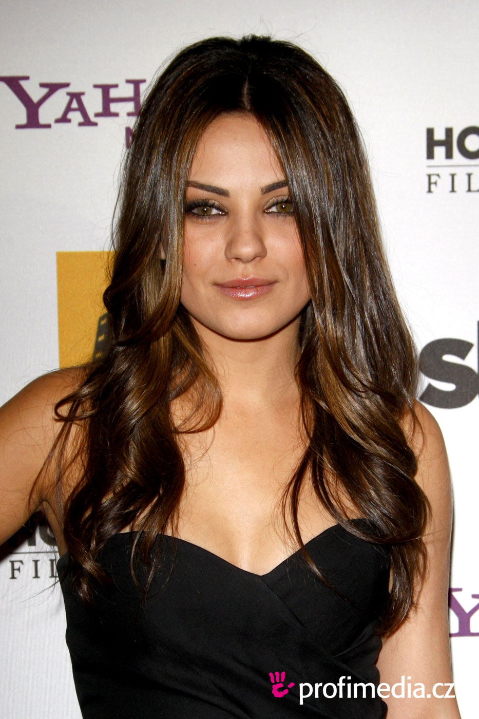Funny Picture Clip Celebrity Mila Kunis Updo Hairstyle