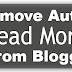 Cara mengahapus Read More Bawaan Blog