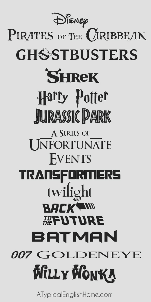 Free movie fonts download