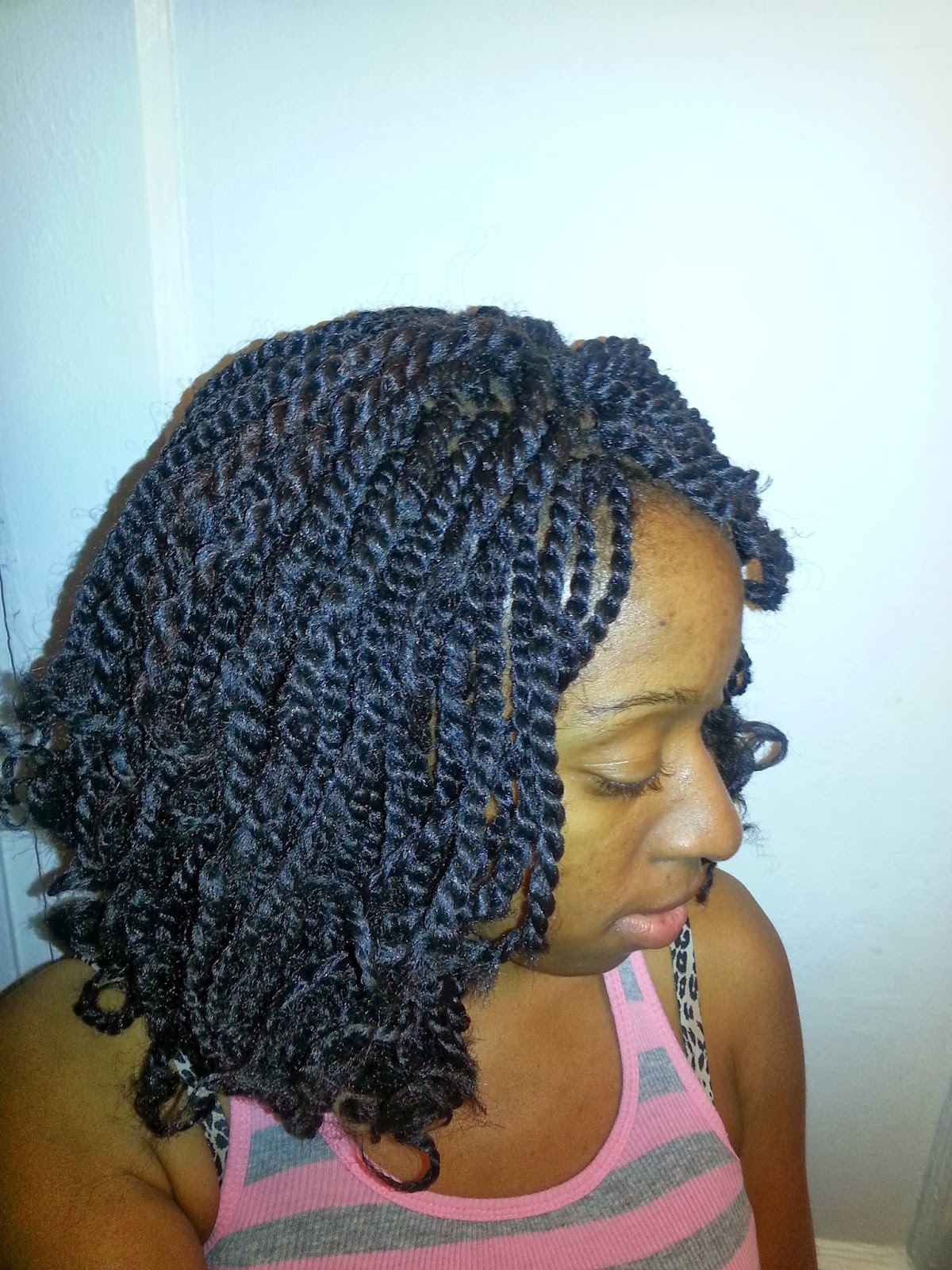 ... is the Crochet Twists and how it looked when I untwisted the hair