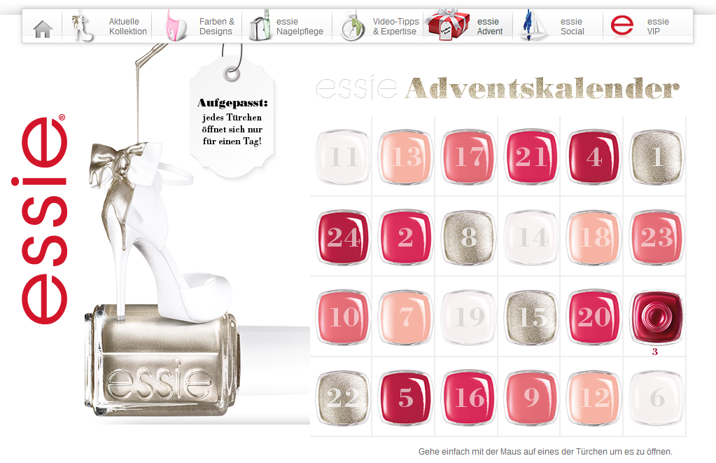 http://www.essie.de/advent