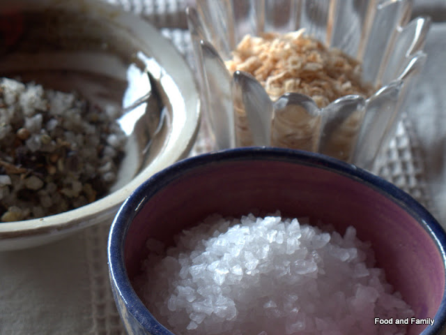 Three different sea salts
