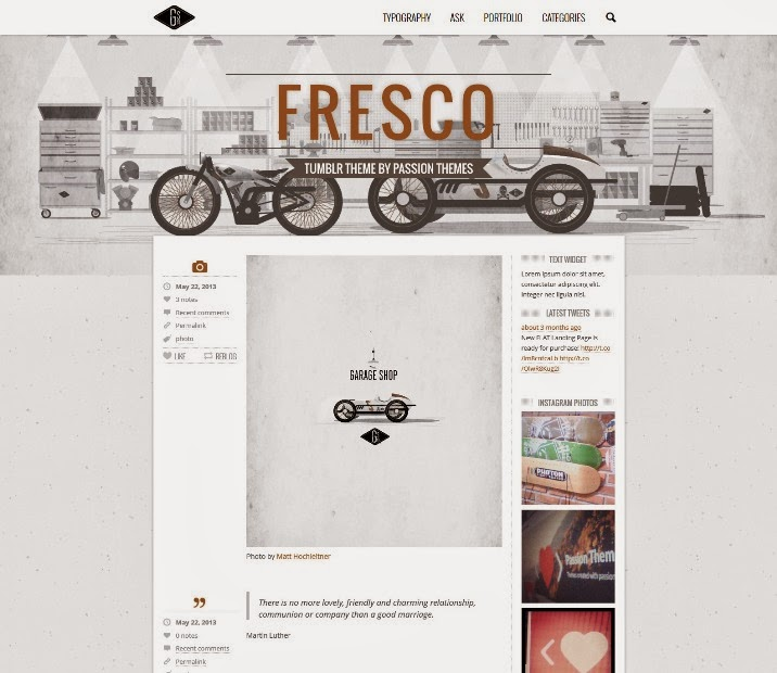 FRESCO - Responsive Multipurpose Tumblr Theme