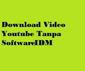 Cara Download Video Di Youtube Tanpa Menggunakan Software IDM