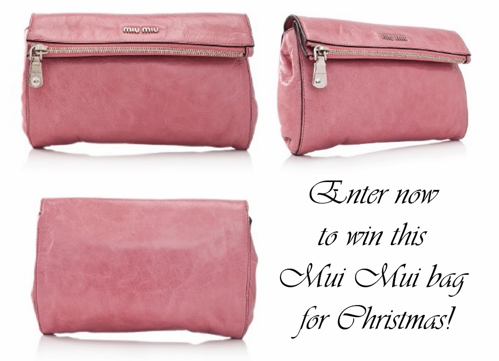 Lucy and The Runaways  A Christmas Giveaway  Miu Miu Vitello Lux ... 2fcc2a83bc6fe