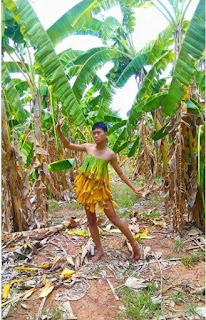 tutu skirt, menakjubkan, jimat kos, daun pisang