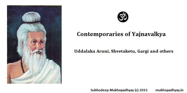Contemporaries of Yajnavalkya