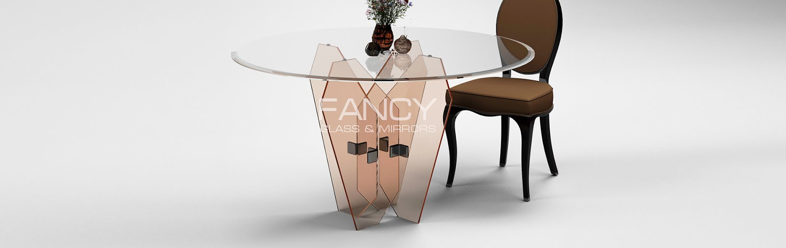 Rounded dining table vega