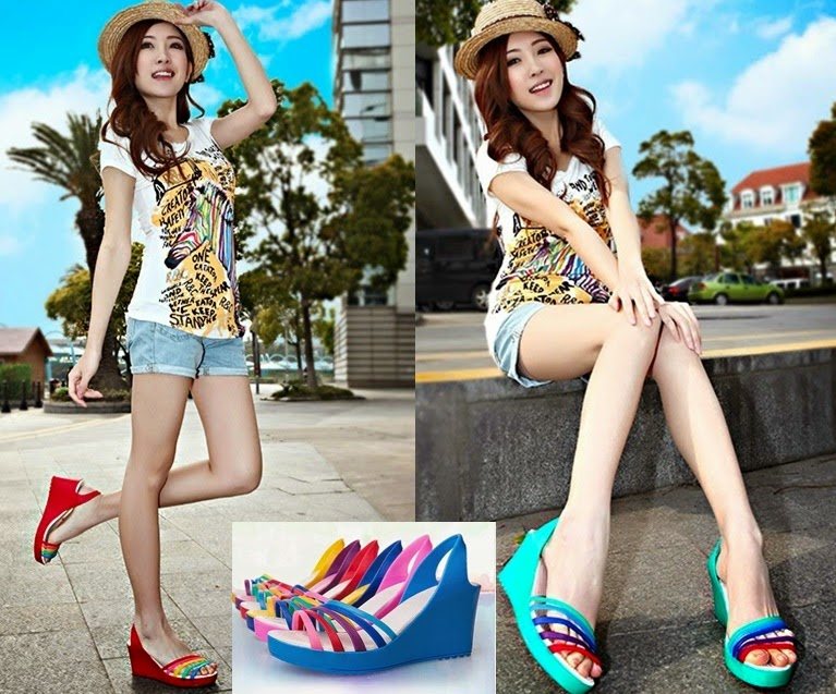 Multi-color Strap Clog Shoes