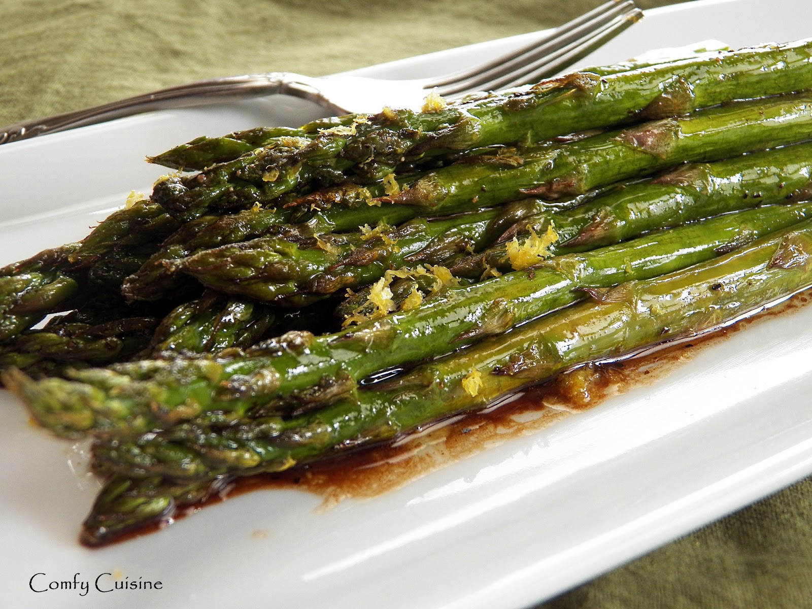 Comfy Cuisine: Roasted Asparagus with Balsamic Browned Butter