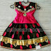 Black and Pink Satin Pavada