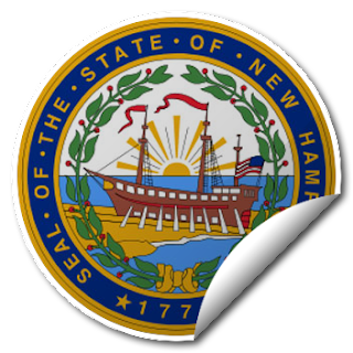 Sticker of New Hampshire Seal