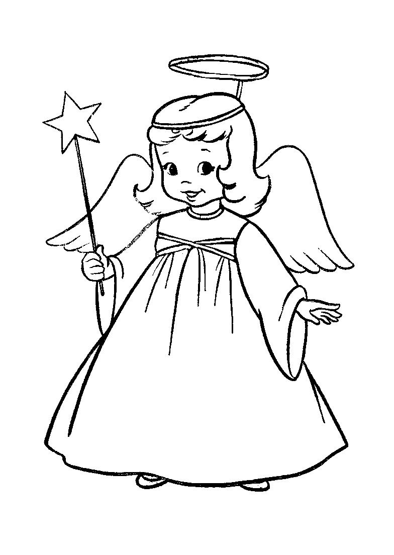 Christmas Angel Coloring Pages | Team colors