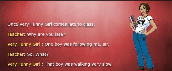 Teacher and Funny Romantic Girl