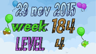 Angry Birds Friends Tournament level 4 Week 184