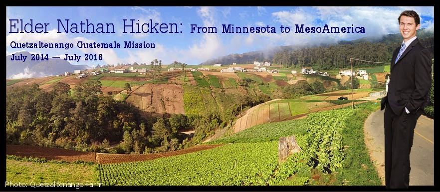 Elder Nathan Hicken's Mission Letters