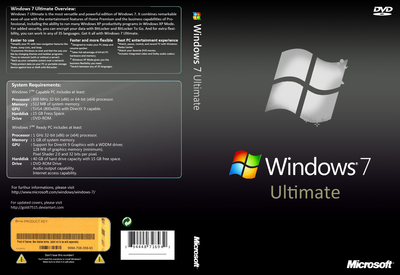 Windows 7 Ultimate SP1 en Español: ISO Original - 1 Link