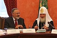 Фото Укринформ: министр Табачник и Патриарх Кирилл