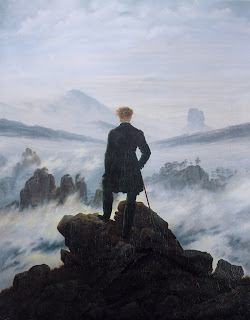 Der Wanderer über den Nebelmeer Caspar David Friedrich