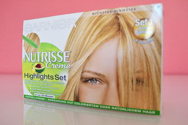 blonde Strähnchen selber färben Garnier Highlights Set