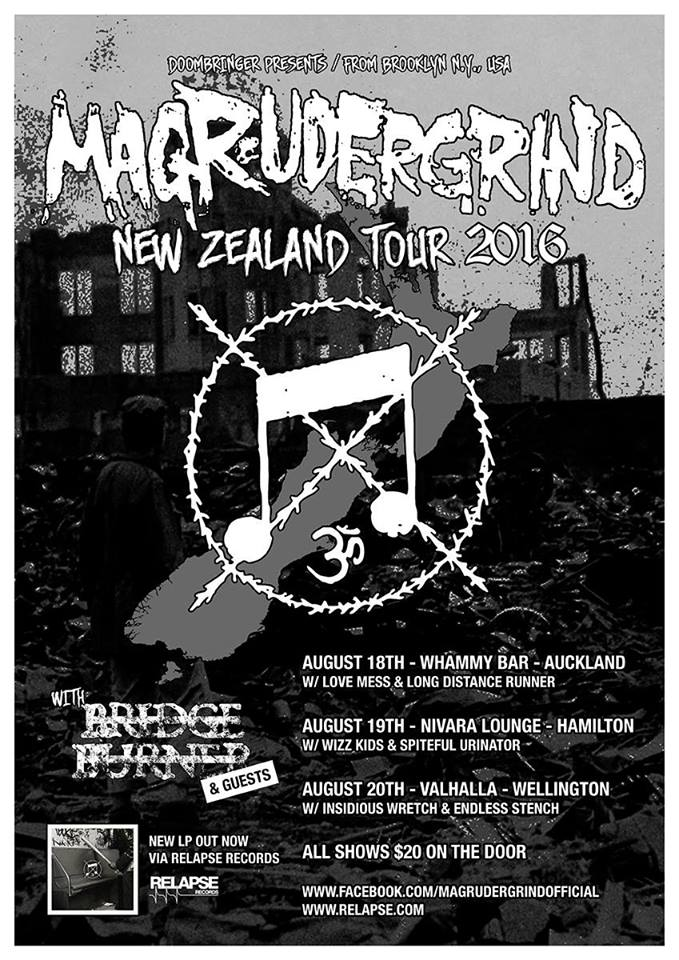 Magrudergrind NZ Tour