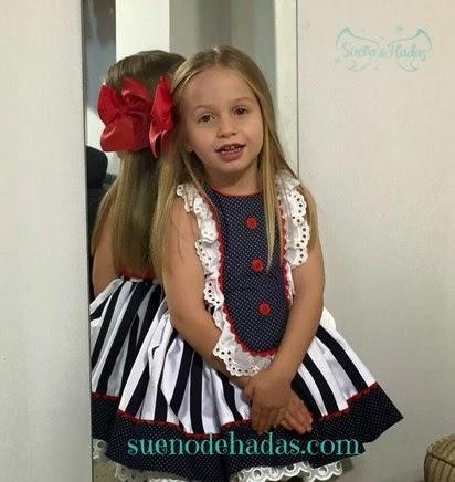 vestido marinero para niña de La Peppa moda infantil