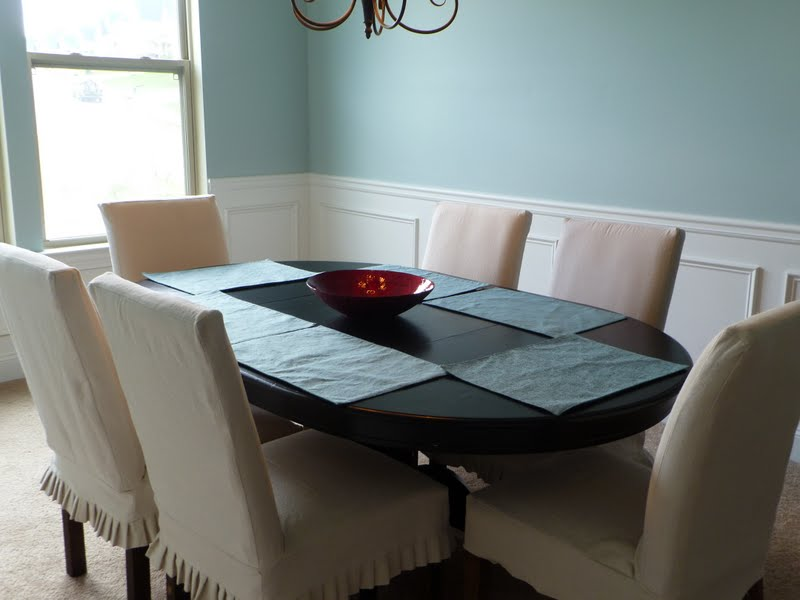 Only From Scratch Slipcovered Parsons Chairs For The Dining Room