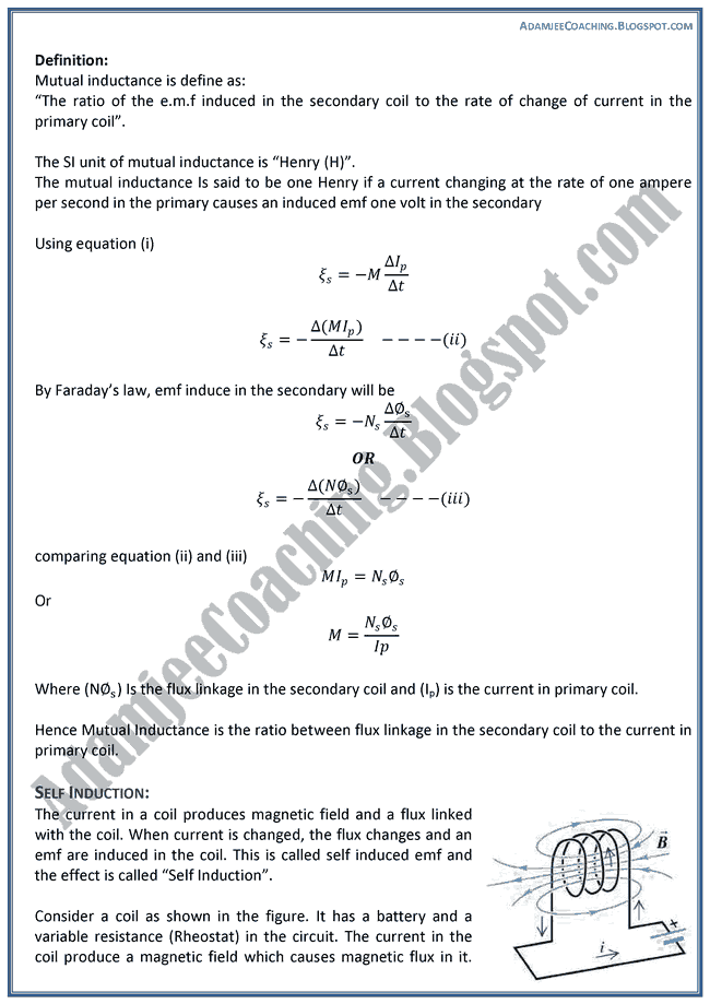 Magnetism-and-Electromagnetism-Theory-Notes-Physics-XII