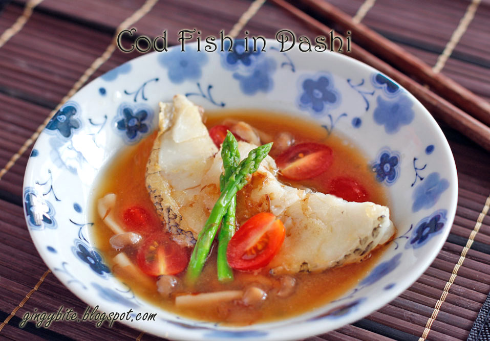 Cod fish in dashi the yummy journey for Fish soup cod