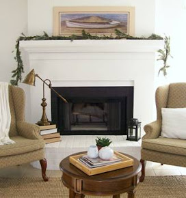 Outdated Fireplace Makeover