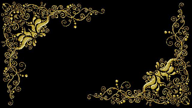 Molduras arabescos dourados 21 png