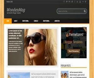 WoodMag Blogger Template, as its name, this template has wood background