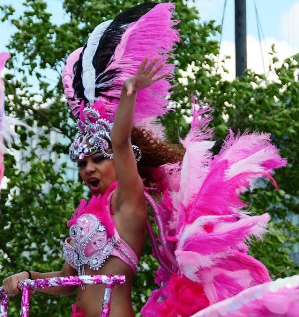 Pink in Rotterdam summer carnaval