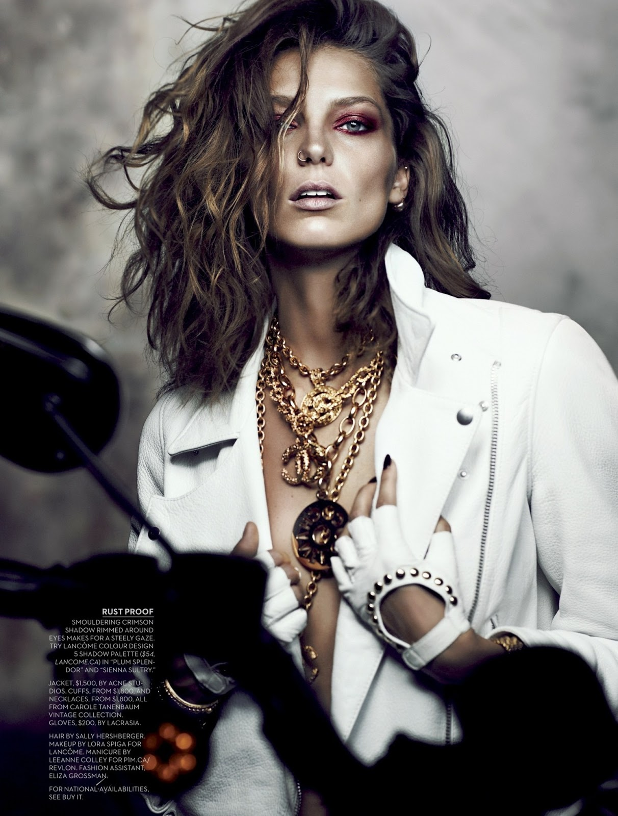 Daria Werbowy By Chris Nicholls Magazine Photoshoot For Fashion Magazine October 2013 Magazine