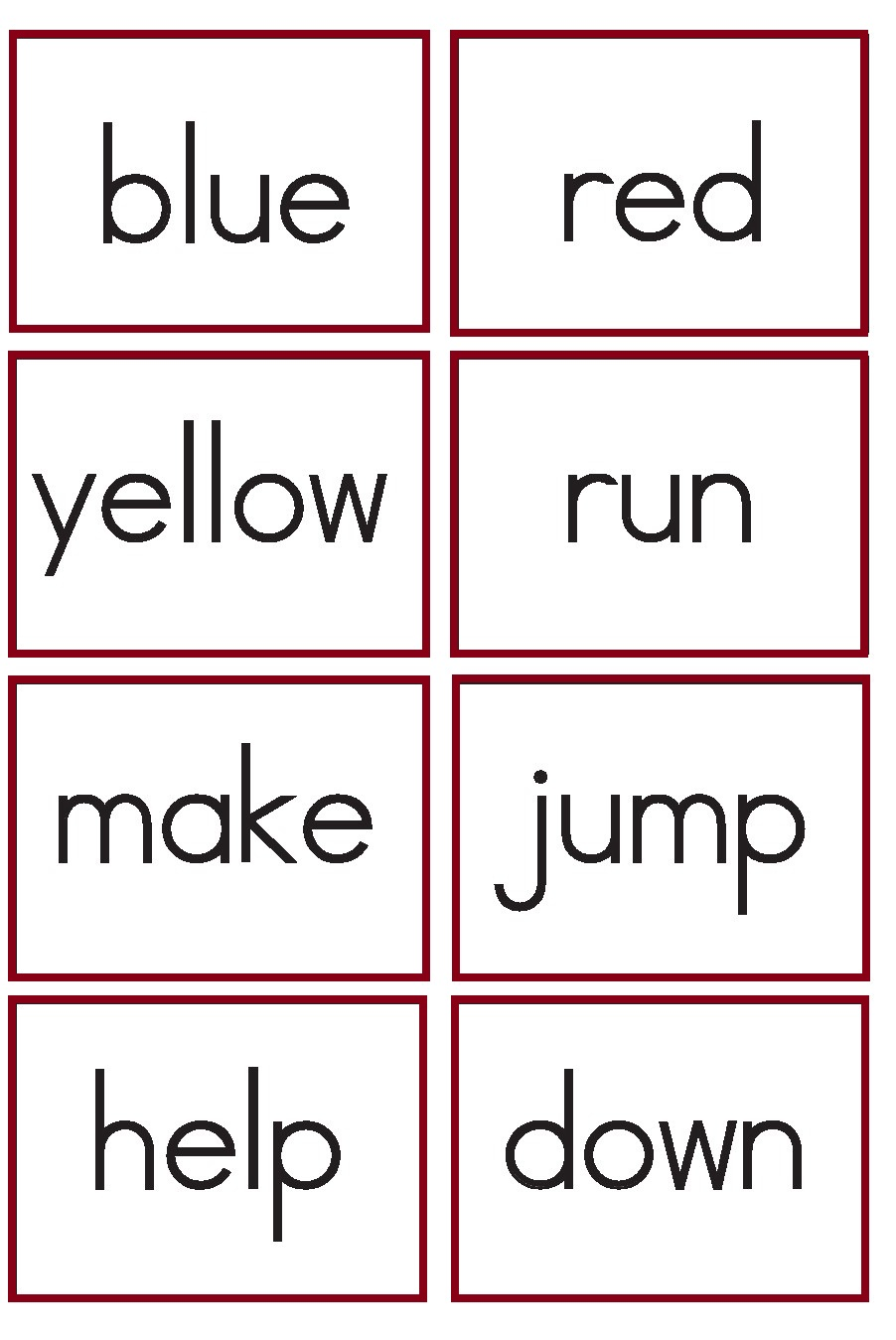 kindergarten worksheets  kindergarten sight words flash cards