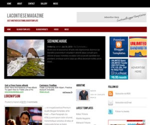 Lacontiese Magazine Blogger Template