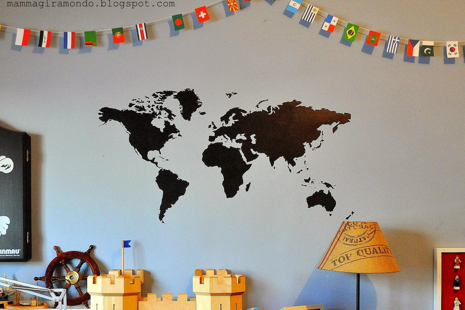 Travel decor: i wall stickers per decorare le pareti di casa