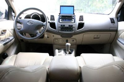 Toyota Fortuner Wonderful interior view with LCD touch screen here