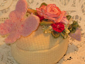 Pink butterfly pincushion