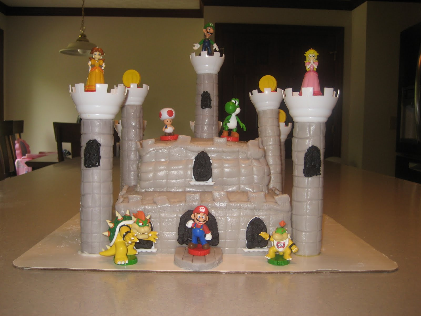 Mario Castle Cake