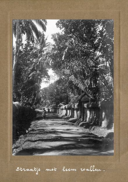 Street with walls loom - Bali ca.1920 by Thilly Weissenborn