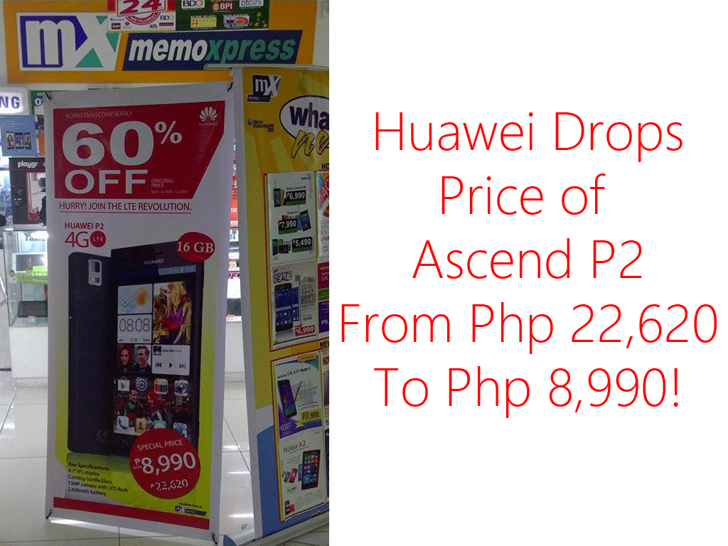 Super Sale Alert! Huawei Ascend P2 4G LTE For Php 8,990 From Php 22,620
