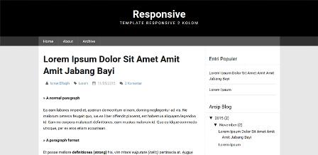 Responsive Framework Blogger Template