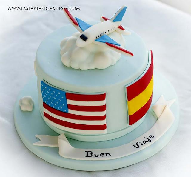 tarta de fondant viaje a Estados Unidos