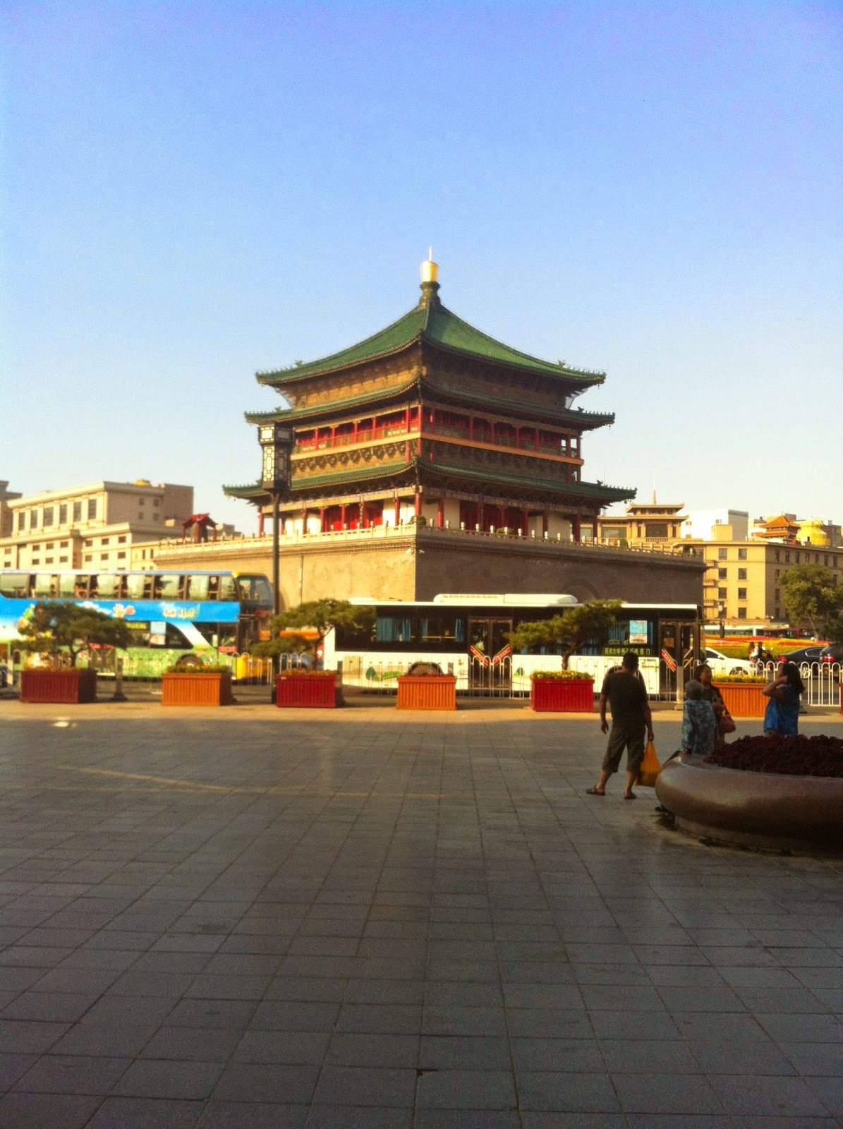 The Xi'an bell tower during the day