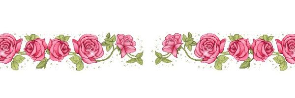 cenefa de rosas para decorar