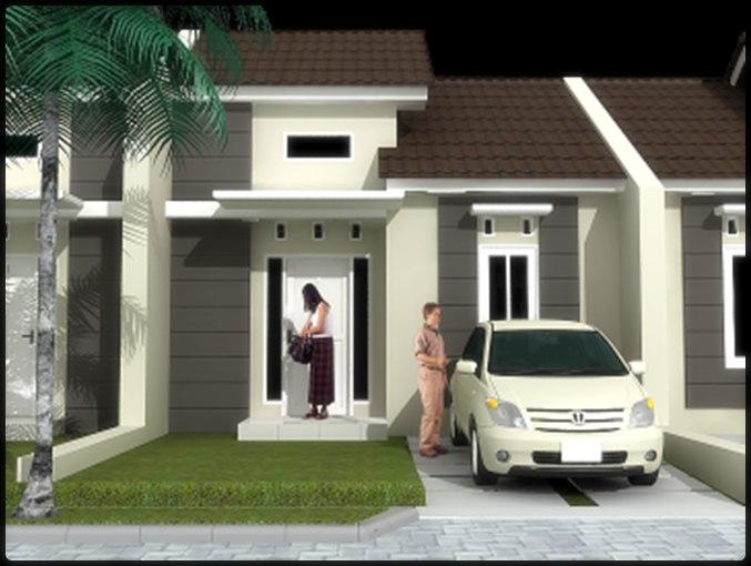 Denah dan model desain rumah minimalis type 36