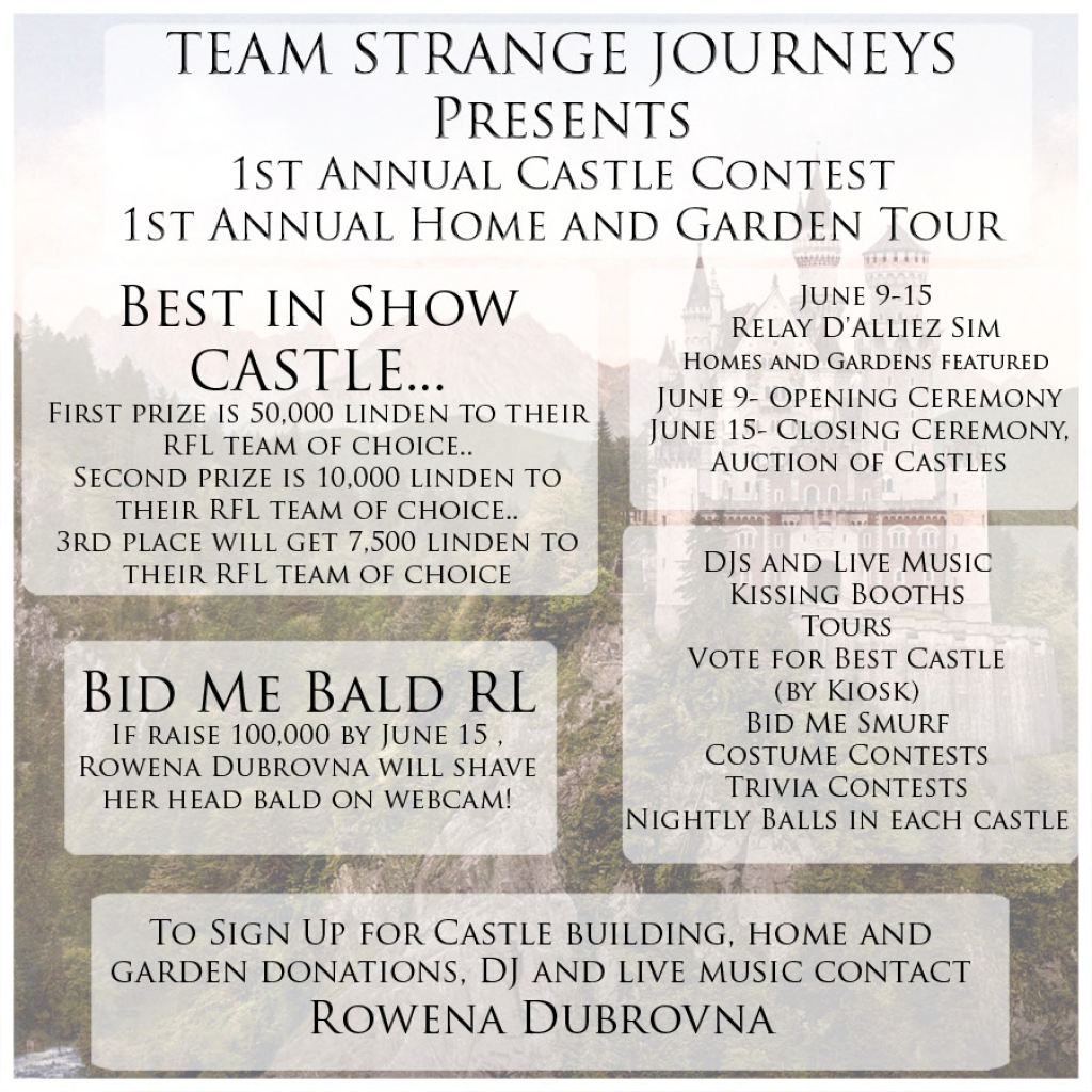 Team strange journeys presents home and garden castle Home and garden contest