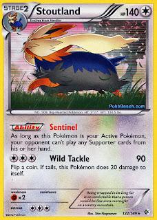Stoutland Boundaries Crossed Pokemon Card