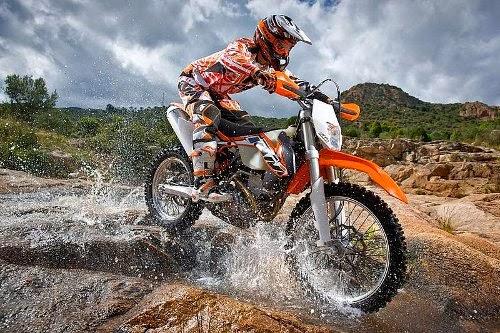 KTM 250 EXC Bikes on Water